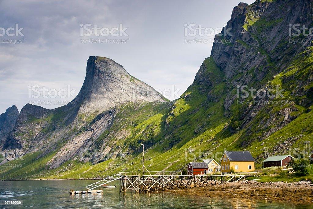 Kerkefjord in Lofoten royalty-free stock photo