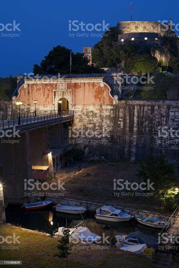 Kerkira fortress royalty-free stock photo