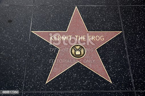 istock Kermit the Frog Hollywood Star 688812050