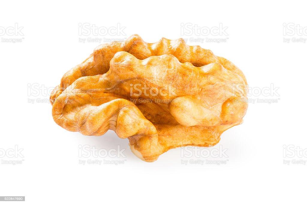Kernel walnut stock photo