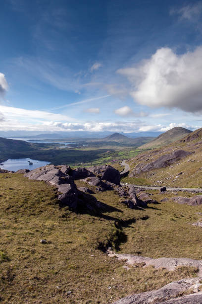 Kerry View from Healy Pass stock photo