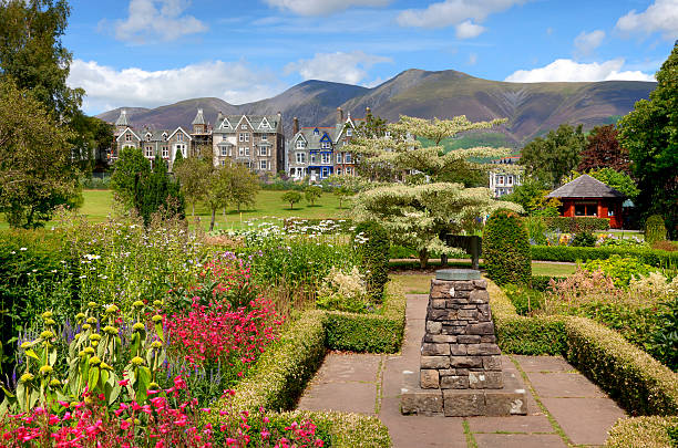 Keswick Hope Park, Keswick, the Lake District, Cumbria, England. cumbria stock pictures, royalty-free photos & images