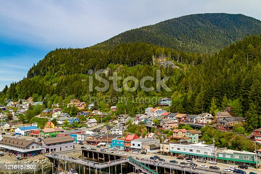 Panorama View of a small part of  Ketchikan Alaska
