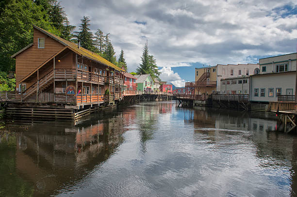 Ketchikan, Alaska, picturesque town view Ketchikan, Alaska, picturesque town view ketchikan stock pictures, royalty-free photos & images