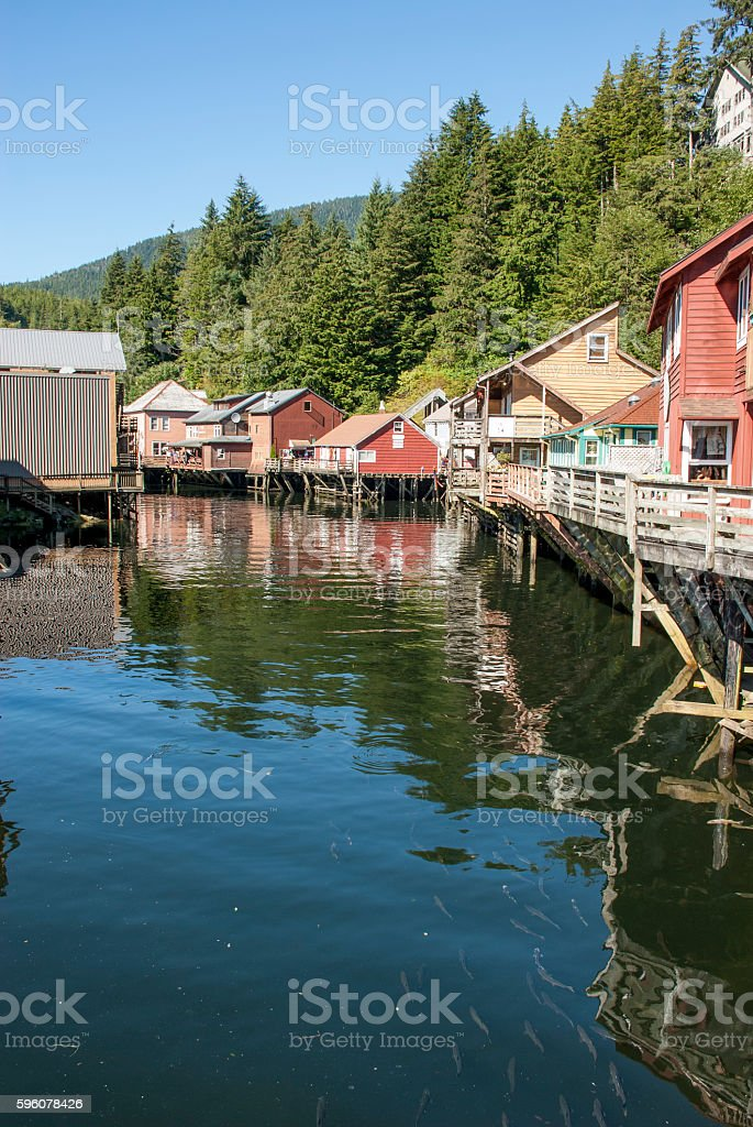 Ketchikan Creek River royalty-free stock photo