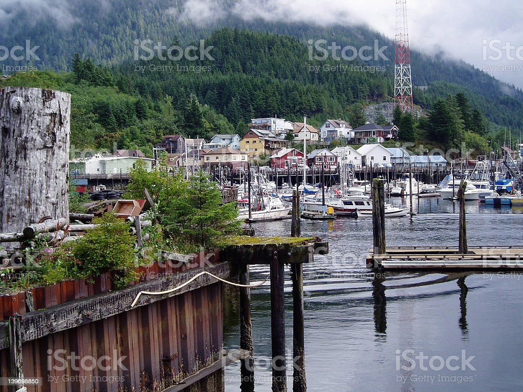 Ketchkan, Alaska Harbor royalty-free stock photo