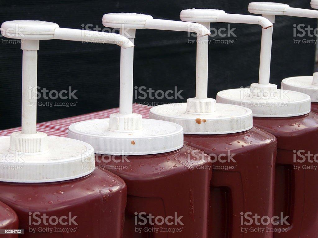 Ketchup Brigade stock photo