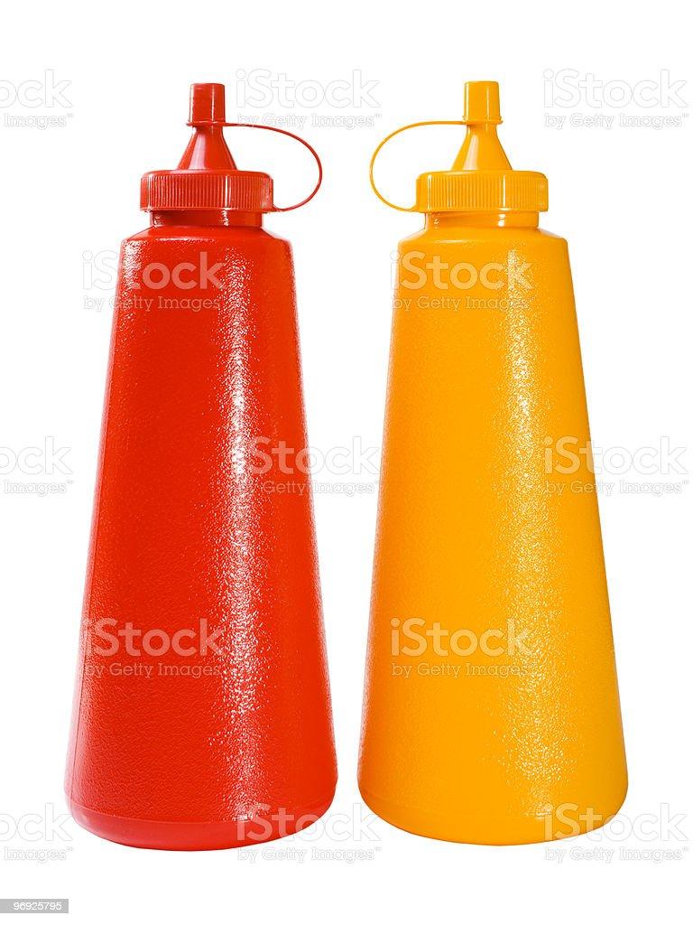 Ketchup & Mustard royalty-free stock photo