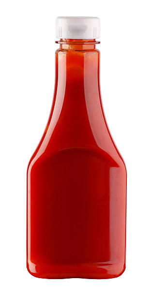 Ketchup Bottle of ketchup on white background ketchup stock pictures, royalty-free photos & images
