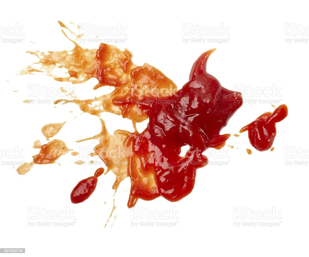 ketchup stain dirty seasoning condiment food stock photo
