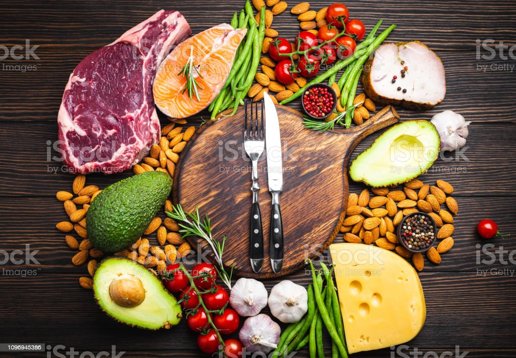 Keto diet foods royalty-free stock photo