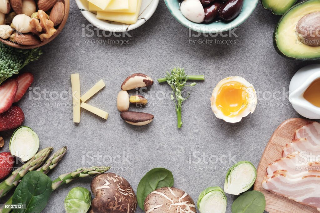 Keto, Ketogenic diet, low carb, healthy food royalty-free stock photo