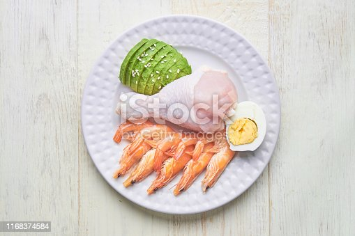 1129572695 istock photo Keto, ketogenic diet, low carb, high good fat , healthy food concept on a plate. top view 1168374584