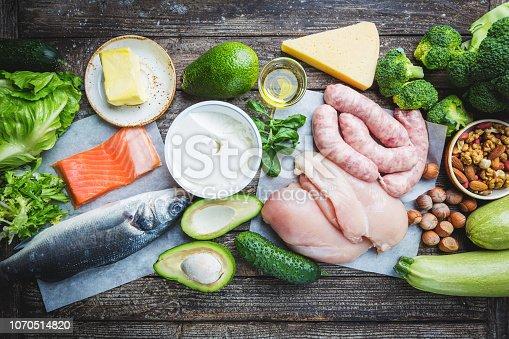 istock Ketogenic diet concept 1070514820