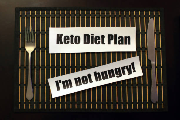 Ketogenic Diet, I'n not Hungry! stock photo