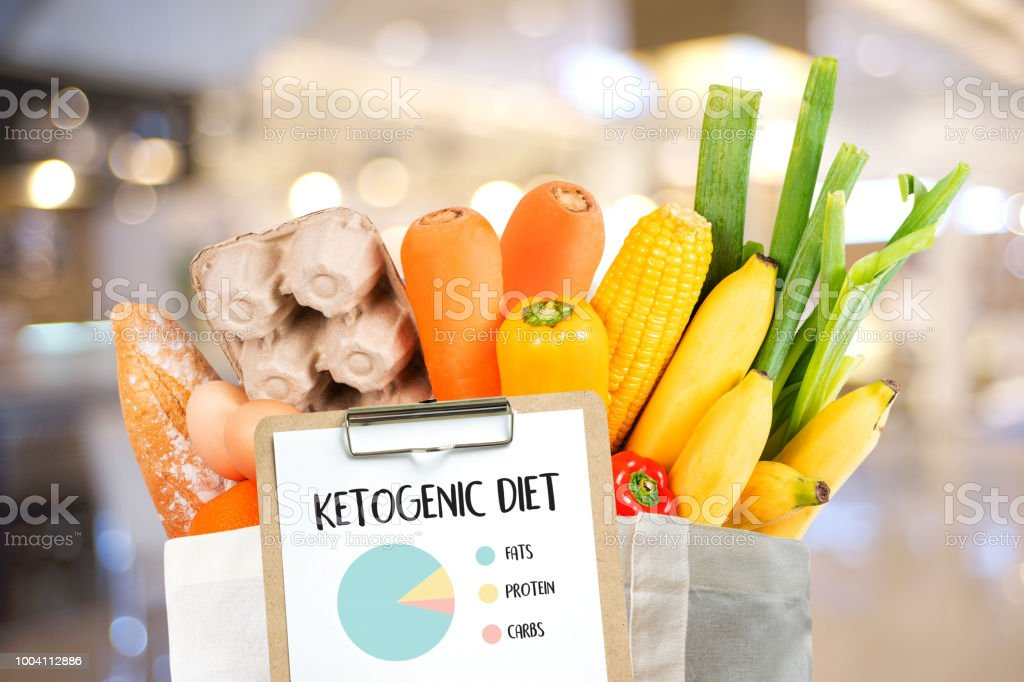 Ketogenic diet  Organic grocery vegetables Healthy low carbs royalty-free stock photo