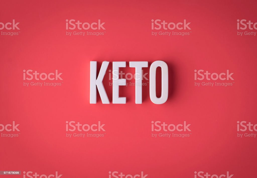 Ketogenic KETO lettering sign made stock photo