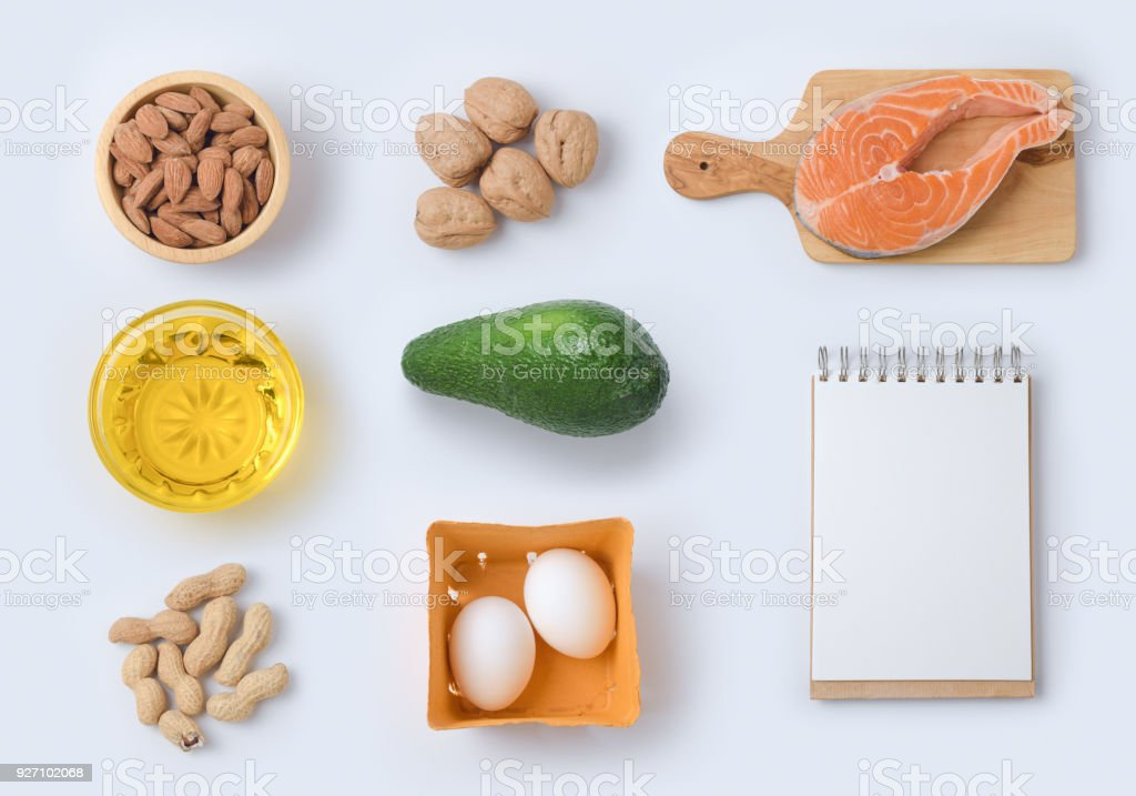 Ketogenic low carbs diet concept stock photo