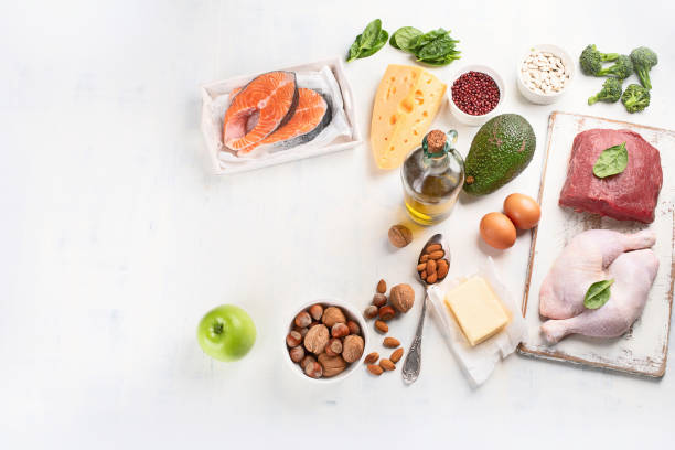 Ketogenic low carbs diet stock photo
