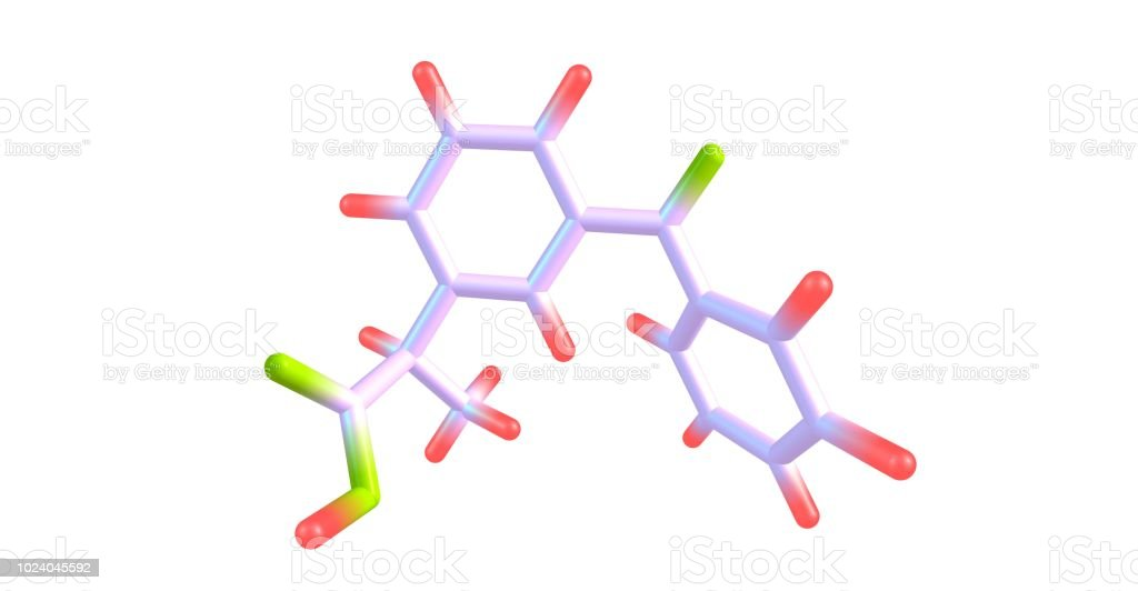 Ketoprofen molecular structure isolated on white stock photo