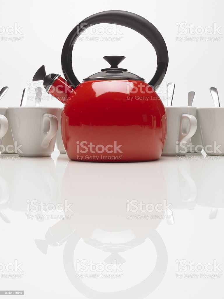 Kettle and cup royalty-free stock photo