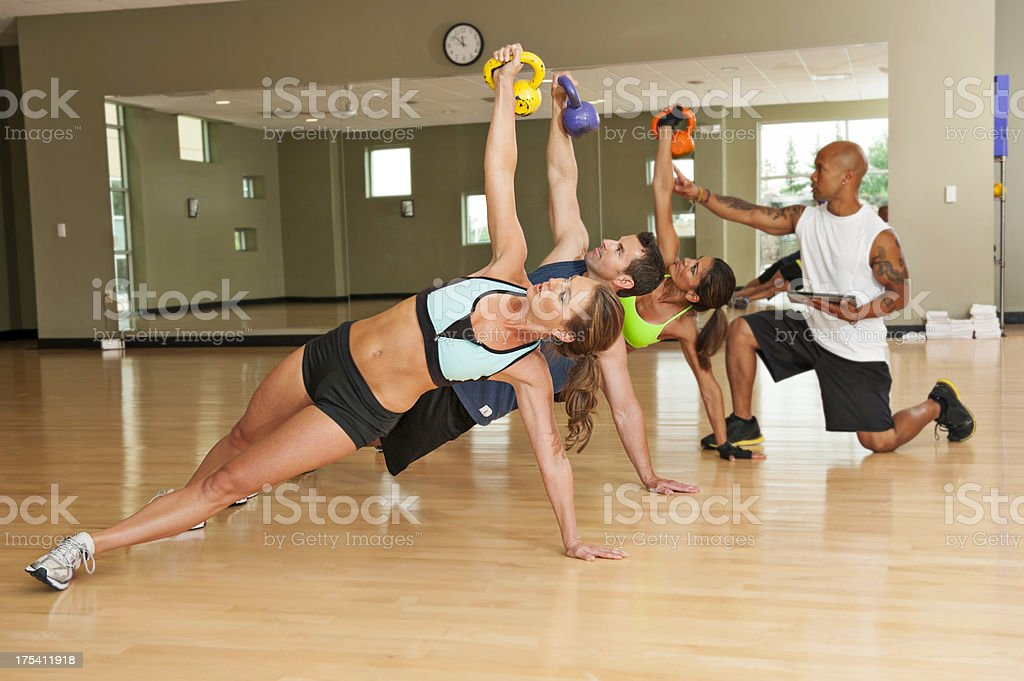 Kettle Bell Exercises royalty-free stock photo