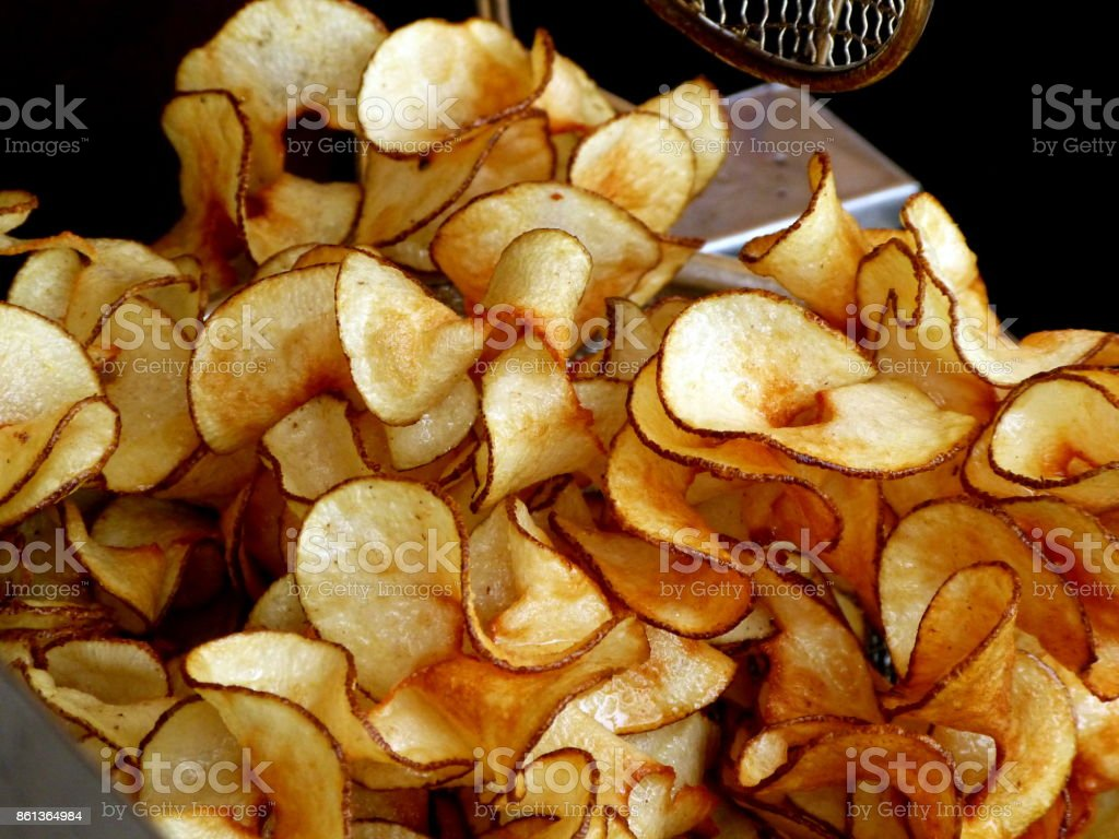 Kettle Chips stock photo