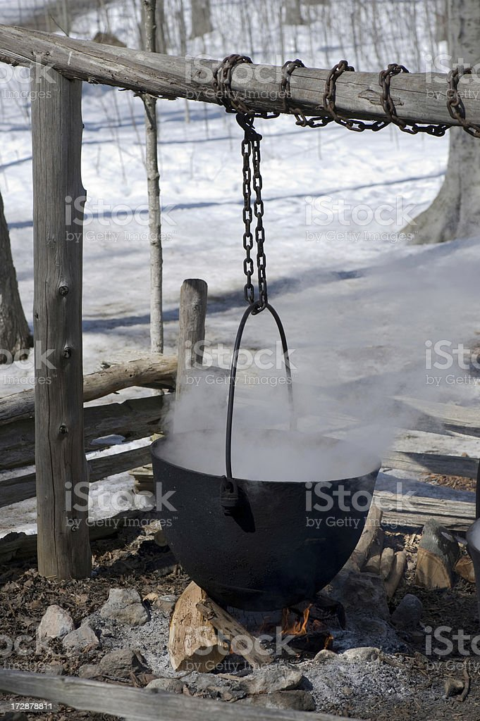 Kettle over open Flame royalty-free stock photo