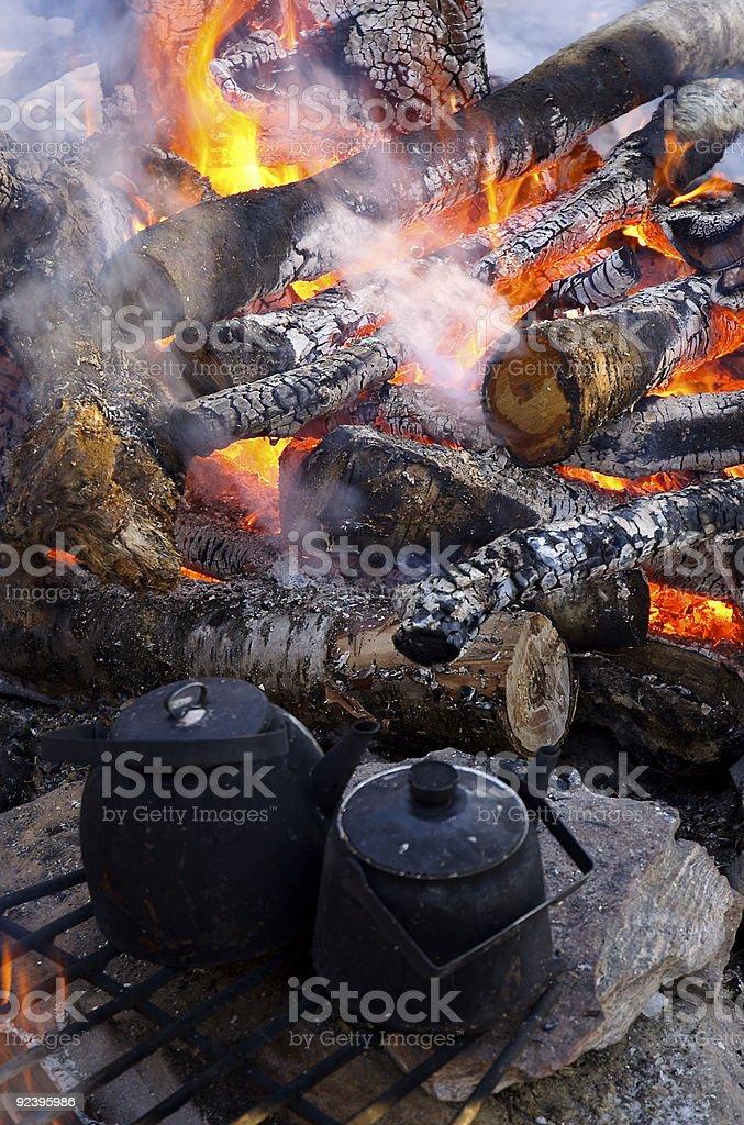 Kettle, Pot, Fire stock photo