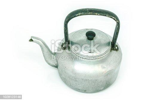 kettle tea on white background