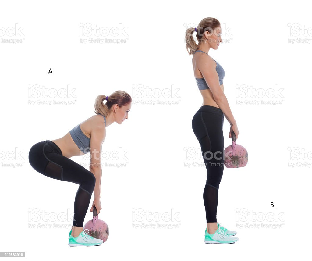 Kettlebell Deadlift Stock Photo More Pictures Of Abdominal Muscle