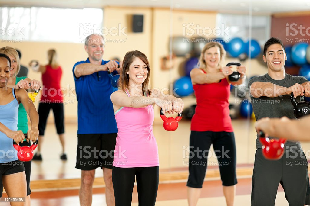 Kettlebell Fitness Class royalty-free stock photo