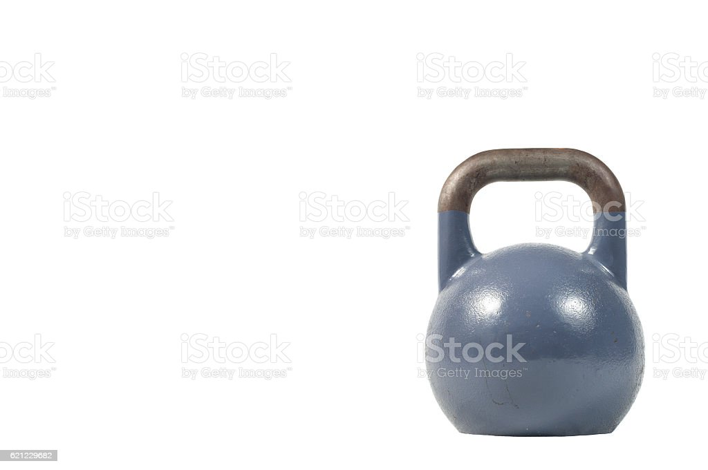 Kettlebell isolated on a white - foto de stock