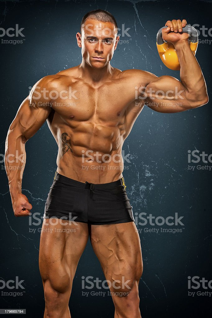 Kettlebell Workout royalty-free stock photo