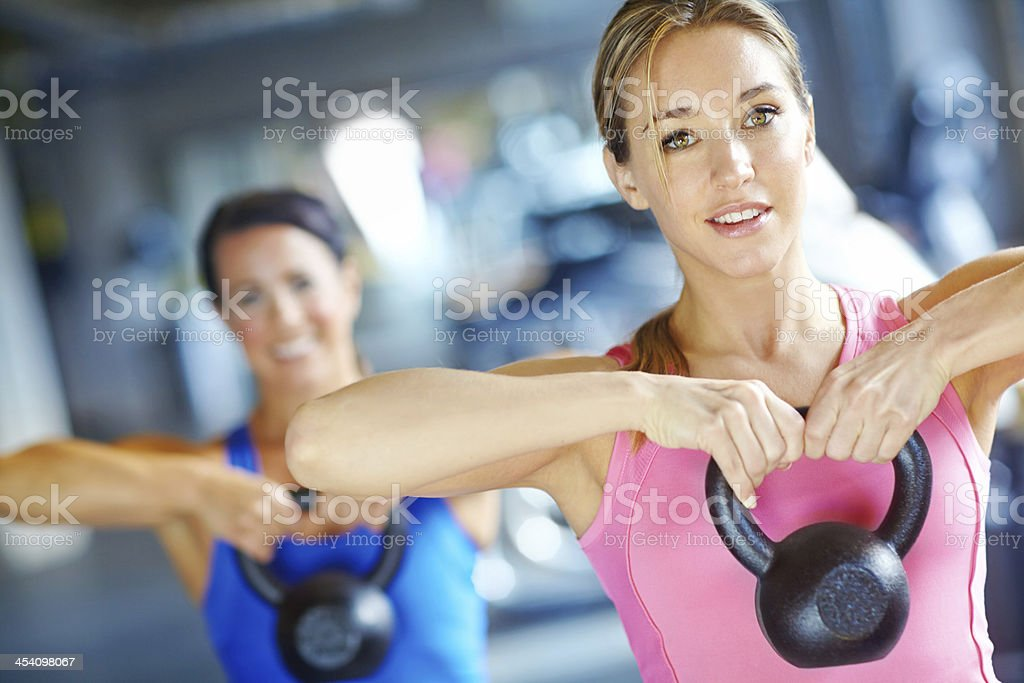Kettlebells - The best way to weight train! stock photo