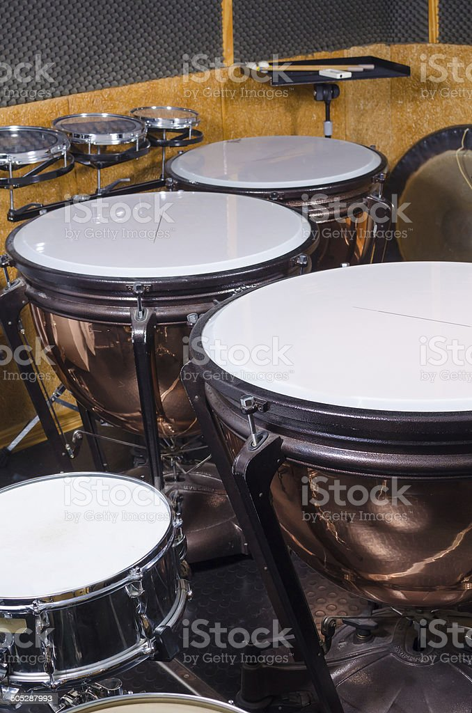 Kettledrums stock photo