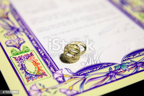 istock Ketubah - marriage contract in jewish religious tradition 475332865