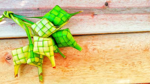 ketupat is a traditional food - ketupat stock pictures, royalty-free photos & images