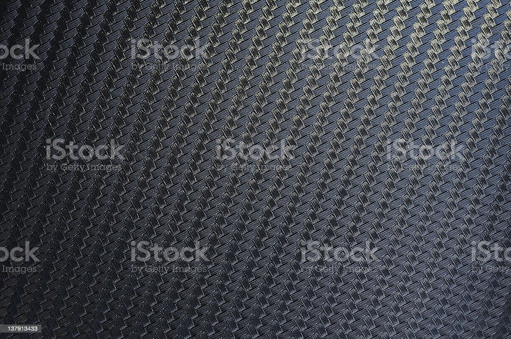 Kevlar fabric texture modern material  Black Background Stock Photo