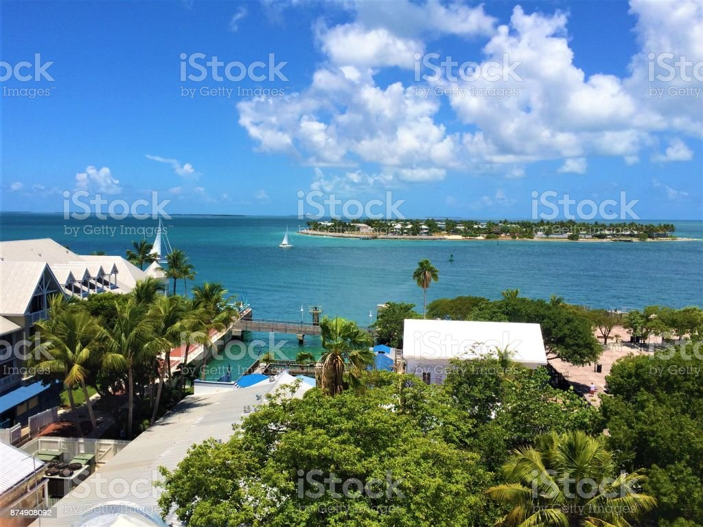 Kew West View Taken from a lookout tower in Key West. Beach Stock Photo