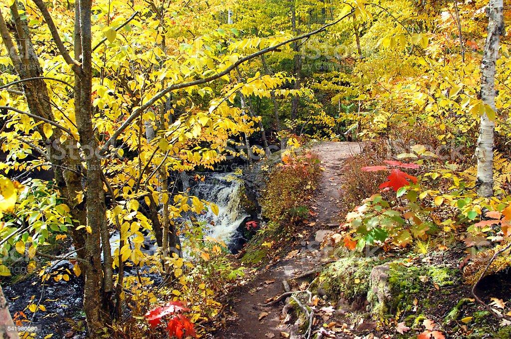 Keweenaw Peninsula and Hungarian Falls stock photo