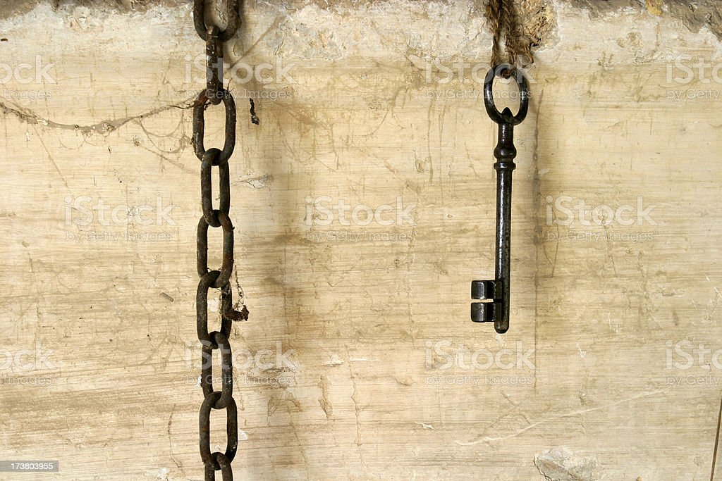 Key and chain royalty-free stock photo