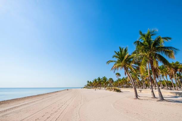 Key Biscayne, Crandon Beach - Florida (US) stock photo