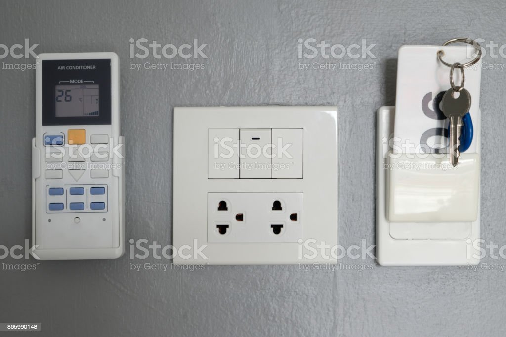 Key Card Electrical Panel In The Hotel Room Stock Photo & More ...