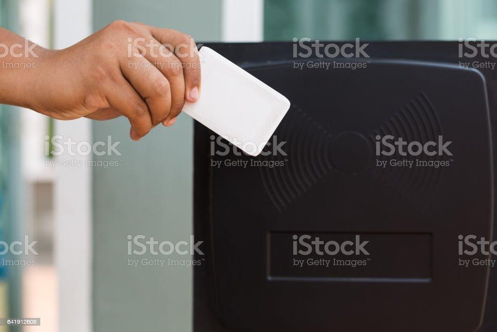 key card rfid sensor detector stock photo