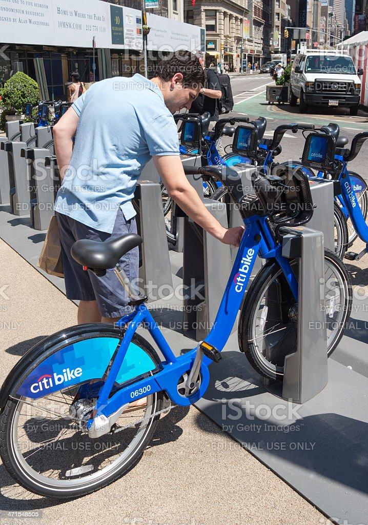Key fob to release citi bike royalty-free stock photo