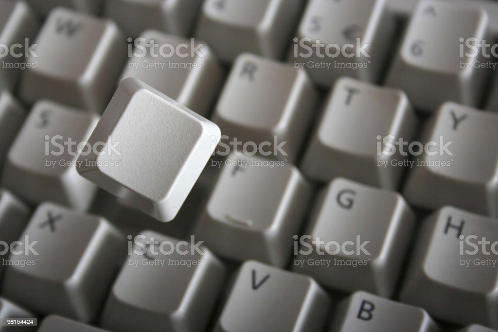 Key from keyboard royalty-free stock photo