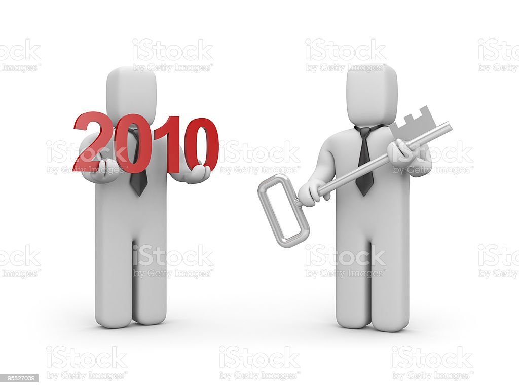 Key from new business year royalty-free stock photo
