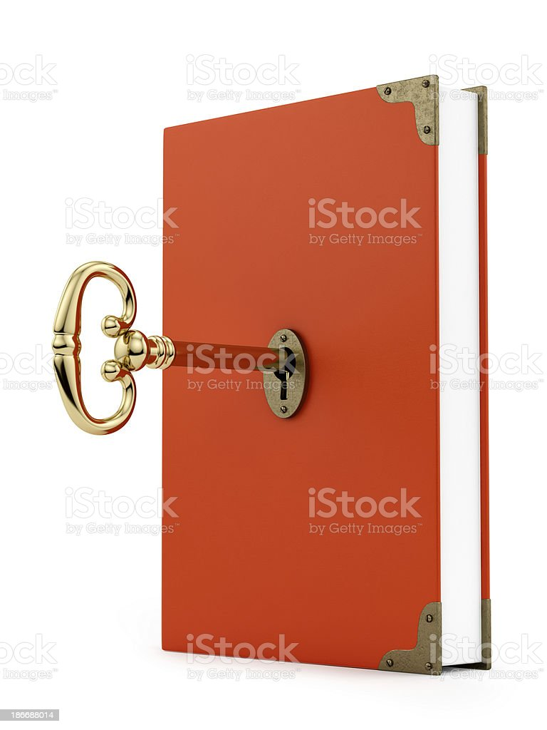 key in a book royalty-free stock photo