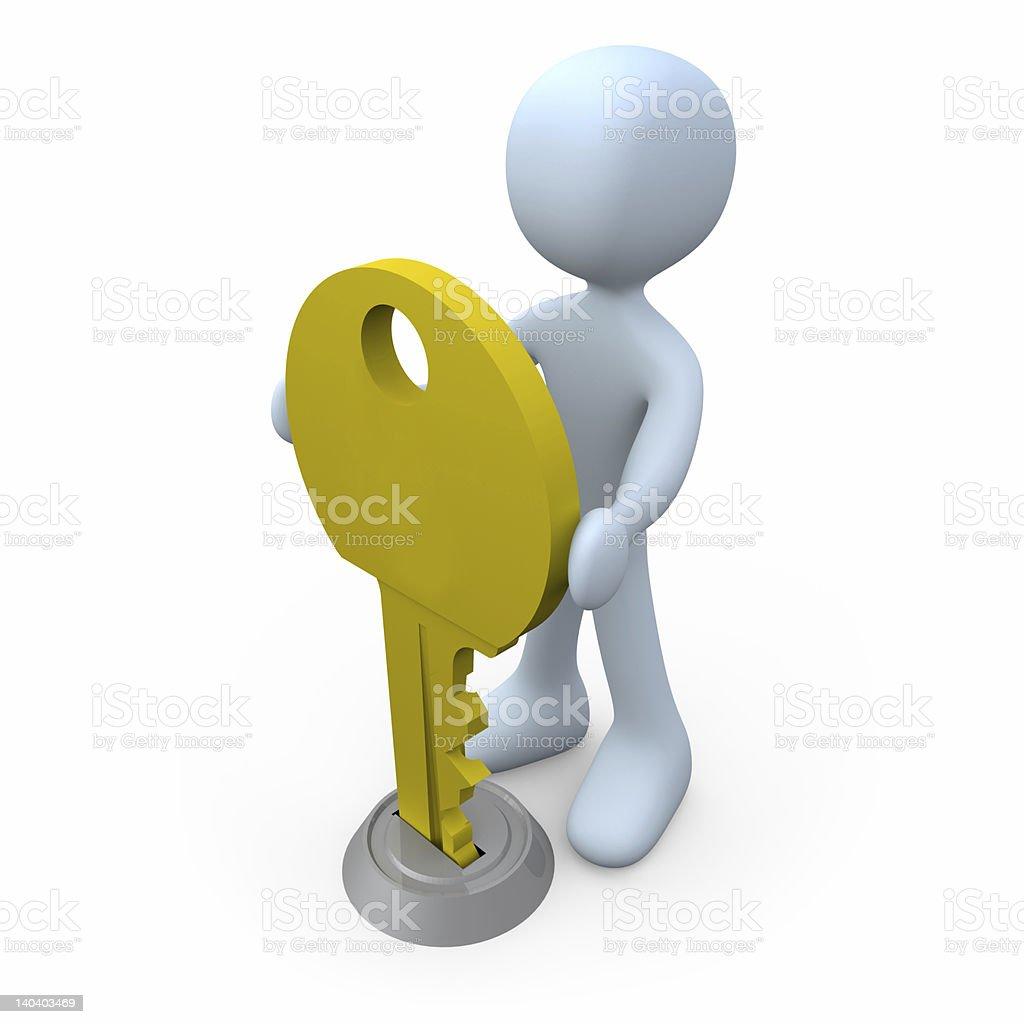 Key in Keyhole royalty-free stock photo